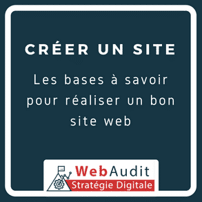 Blog Webaudit - comment réaliser un site internet professionnel