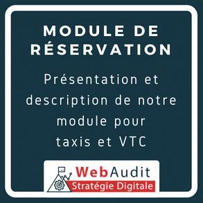 Blog Webaudit - presentation plugin de réservation taxi et VTC