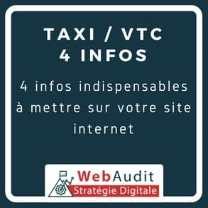 Taxi VTC optimisation conversion site internet