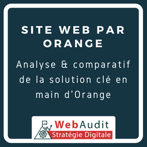 Analyse offre site web clé en main par Orange