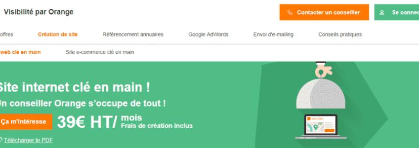 avis Orange Visibilité création site internet