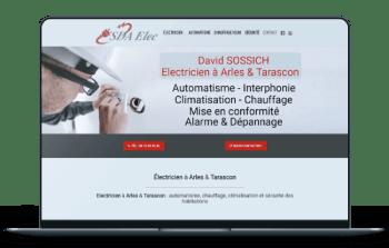 Site Internet Electricien Arles et Tarascon - SDA Elec