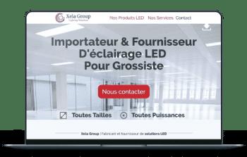 Site internet electricien - Xela Groupe Suisse