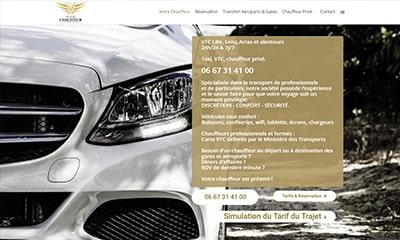 Visibilité avec un site Web pour chauffeur privé VTC à Lille