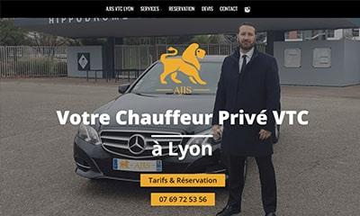Visibilité avec un site Web pour chauffeur privé VTC à Lyon