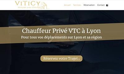 Visibilité avec un site Web pour chauffeur privé VTC dans le Rhône et à Lyon