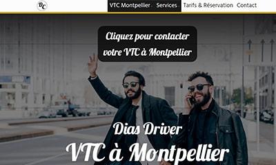 Visibilité avec un site Web pour chauffeur privé VTC à Montpellier