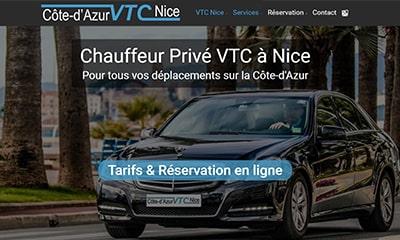 Visibilité avec un site Web pour chauffeur privé VTC à Nice