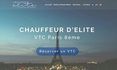 Visibilité avec un site Web pour chauffeur privé VTC à Paris
