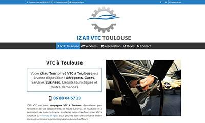 Visibilité avec un site Web pour chauffeur privé VTC à Toulouse