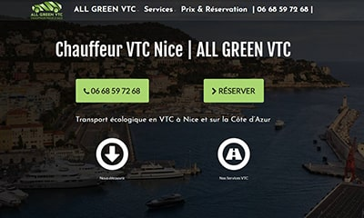 site internet all green vtc nice