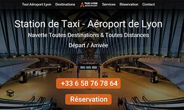 Réserver un taxi à l'Aéroport de Lyon