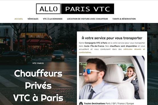 Site Internet pour chauffeur VTC à Paris