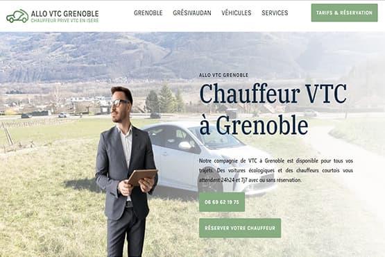 Site Internet pour chauffeur VTC à Grenoble