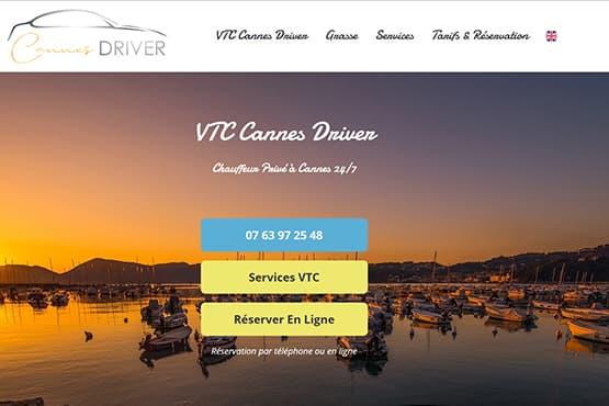 Site Internet pour chauffeur VTC à Cannes
