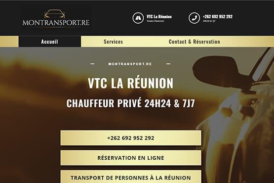 Site Internet pour chauffeur VTC à La Réunion