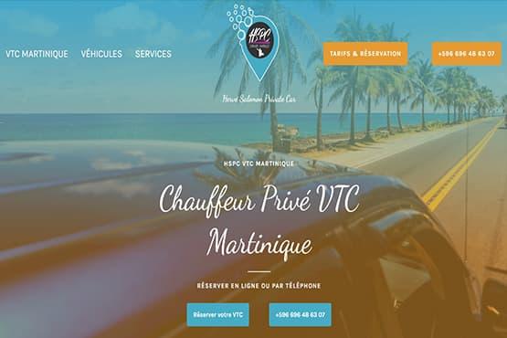 Site Internet pour chauffeur VTC en Martinique