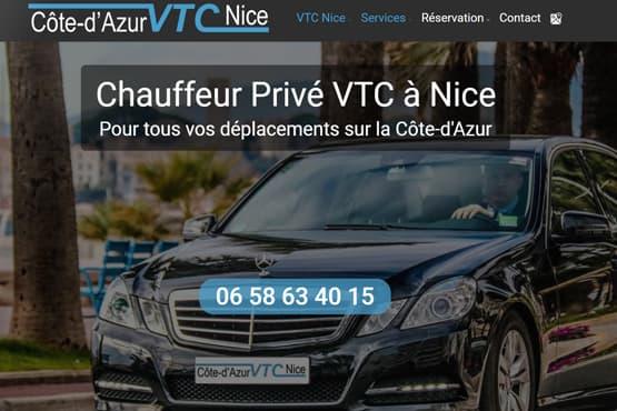 Site Internet pour chauffeur VTC à Nice