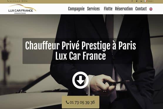 Site Internet pour chauffeur VTC Haut-de-gamme à Paris