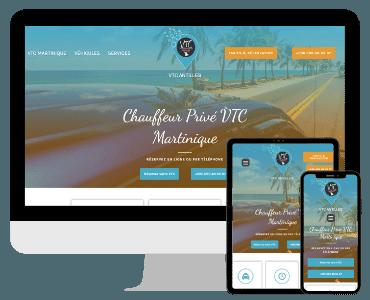 Site web VTC Guadeloupe