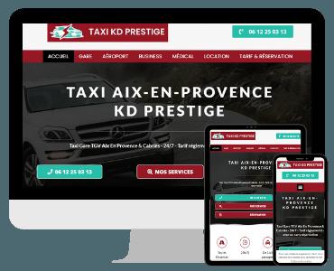 Creation site internet taxi Aix-en-Provence