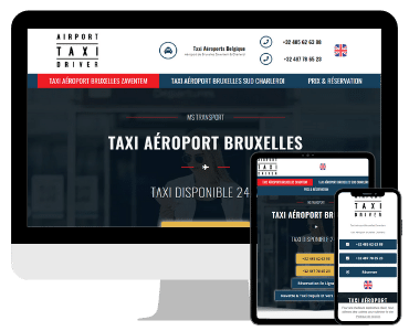 Creation site internet taxi aeroport Bruxelles