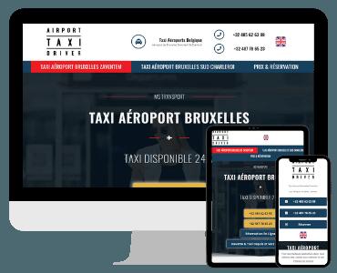 Creation site internet taxi aeroport Bruxelles
