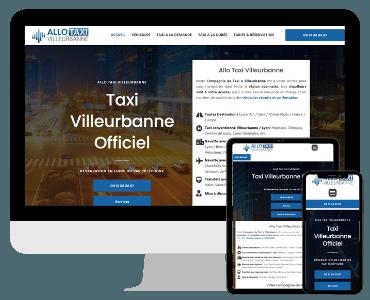 Site internet Allo Taxi Villeurbanne