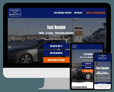 Site internet taxi Bandol