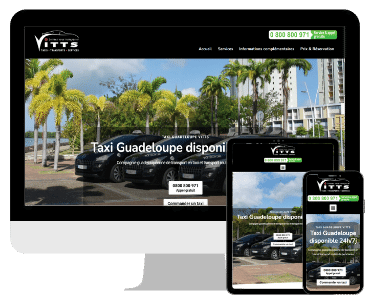 Site internet taxi Guadeloupe