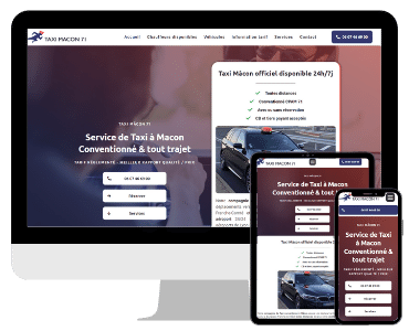 Site internet taxi Macon