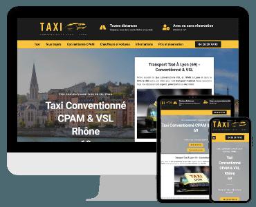Site internet taxi conventionne Lyon