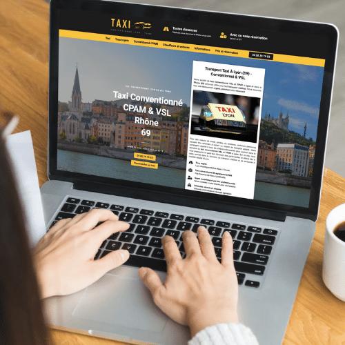 Site internet taxi qui vise clientele precise
