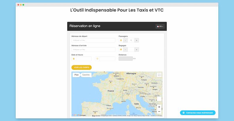 capture ecran module reservation taxi vtc clickchauffeur