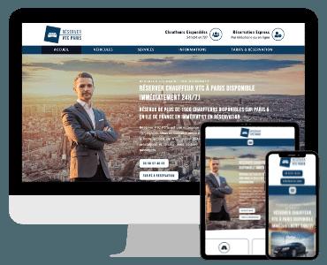 Site internet VTC Paris